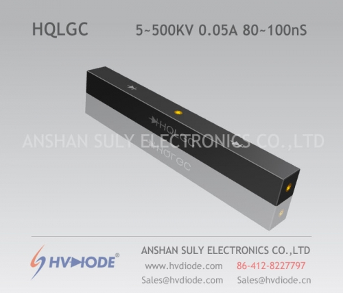 Military-quality high-frequency 80 ~ 100nS high-voltage half-bridge silicon stack HQLGC5 ~ 500KV / 0.05A high temperature-resistant chip HVDIODE manufacturers