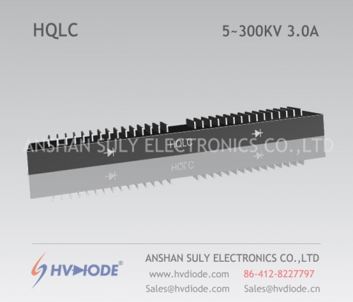 Genuine power frequency HQLC5 ~ 300KV / 3.0A high voltage half bridge silicon stack HVDIODE manufacturers