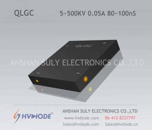 Military quality high frequency 80 ~ 100nS high voltage single phase full bridge QLG5 ~ 500KV / 0.05A high temperature chip HVDIODE manufacturer