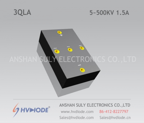 Military quality power frequency high voltage three-phase bridge 3QL5 ~ 500KV / 1.5A high temperature chip HVDIODE manufacturers