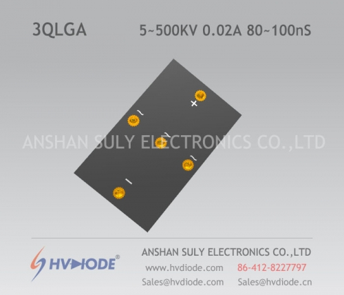 HVDIODE genuine 3QLG5 ~ 500KV / 0.02A high voltage three-phase bridge 80 ~ 100nS high frequency response