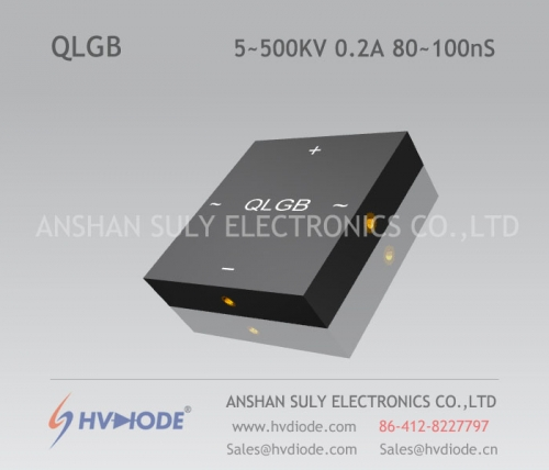Military product control HVDIODE manufacturer produces 80 ~ 100nS high frequency QLG5 ~ 500KV / 0.2A high voltage full bridge