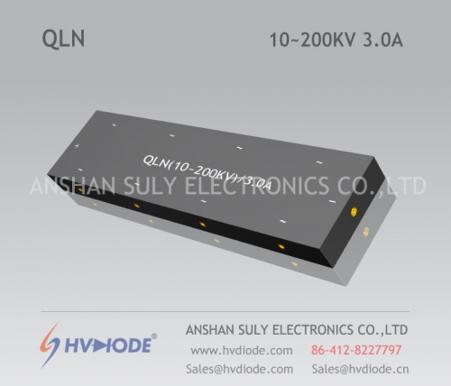 Power frequency multi-stage special high voltage special rectifier bridge QLN (10 ~ 200KV) / 3A manufacturer HVDIODE direct sales