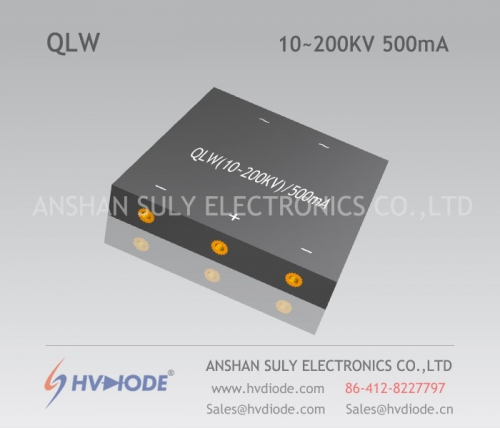 Genuine power frequency QLW10 ~ 200KV / 500mA special W-type high-voltage rectifier bridge HVDIODE manufacturers
