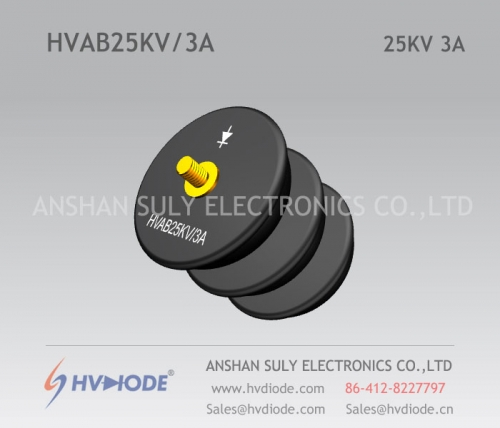 Military quality HVAB25KV / 3A power frequency bowl type high voltage rectifier components HVDIODE factory direct sales