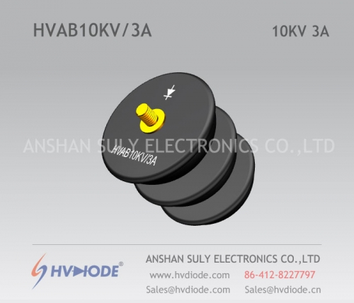 HVDIODE bowl type HVAB10KV / 3A power frequency bowl type high voltage rectifier assembly