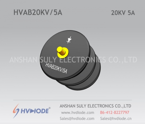 Military quality HVDIODE bowl type HVAB20KV / 5A power frequency high voltage rectifier component
