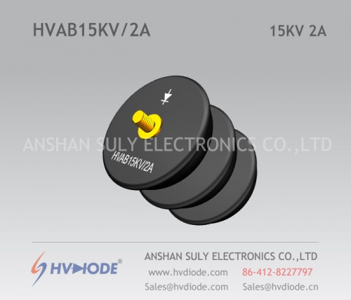 Power frequency HVAB15KV / 2A high voltage rectifier component HVDIODE bowl type