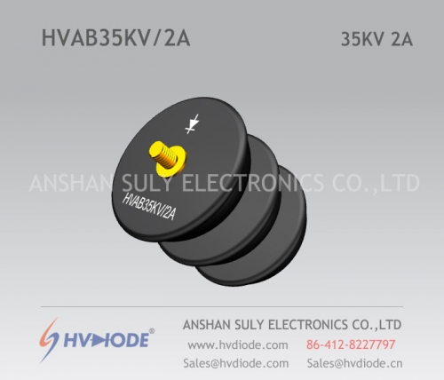 HVDIODE manufacturers supply power frequency HVAB35KV / 2A bowl high voltage rectifier components