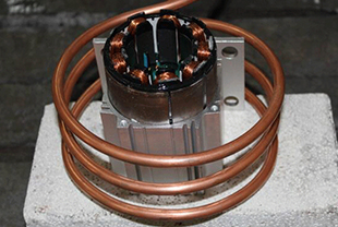 Shrink fitting of motor rotor and stator