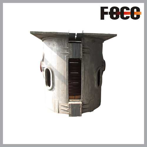 2T aluminum shell induction melting furnace