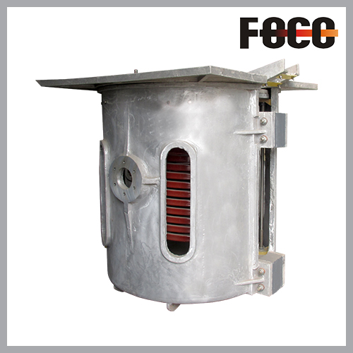 0.75T aluminum shell induction melting furnace