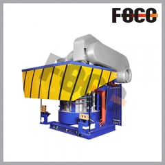 1T steel shell induction melting furnace