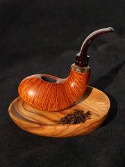 Wooden Pipes for Smoking Briar pipe Tobacco smooth hand made nice flame whale shape #L110