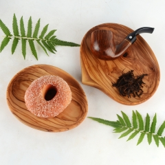 Olive wood Plate Round Wooden Cake Fruits Dish Room Dessert Service Tray Wood Sushi Board Party Tableware wooden small plate