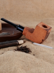 Smoking Tobacco Pipe Briar Wood Block - Pre Drilled Unfinished #914 smoking pipe,Tobacco pipe, handmade pipe, unfiished pipe kits