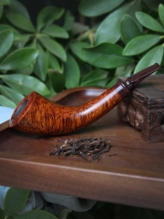 hand made briar pipe smooth finished wooden Smoking Tobacco Pipe Smooth Horn #L1008