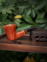 Luigi Viprati hand made briar pipe smooth finished #S001