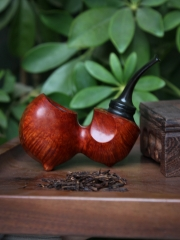 hand made briar pipe smooth finished wooden Smoking Tobacco Pipe kits #S013