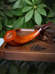 Hand made pipe, horn shape #S003