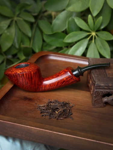 Davide afisco Smooth Bent Dublin hand make smoking briar pipe nice flame #S102