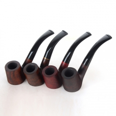 Briar pipes tobacco smoking pipe smooth finish 9mm filter bent pipe hungary shape #CK1005