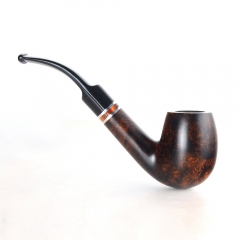 Briar pipes tobacco smoking pipe smooth finish 9mm filter full bent pipe shape #CK1006