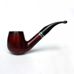 Briar pipes tobacco smoking pipe smooth finish 9mm filter bent pipe shape #CK1001
