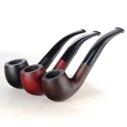 Briar pipes tobacco smoking pipe smooth finish 9mm filter bent pot pipe shape #CK1010