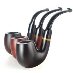 Briar pipes tobacco smoking pipe smooth finish 9mm filter bent pipe hungarian shape #CK1018