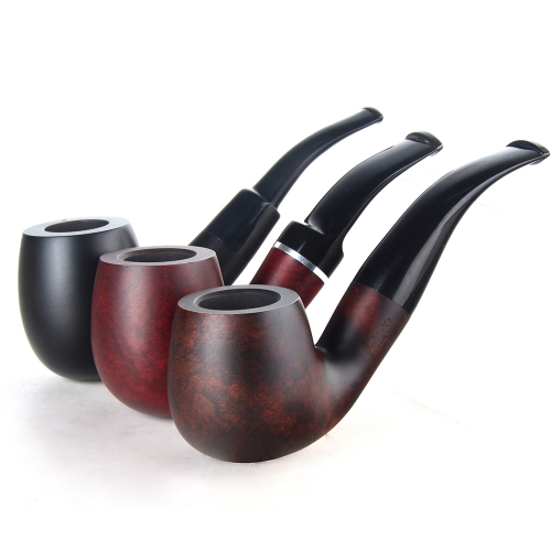 Briar pipes tobacco smoking pipe smooth finish 9mm filter large full bent pipe shape #CK1019