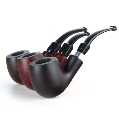Briar pipes tobacco smoking pipe smooth finish 9mm filter large full bent pipe shape #CK1017