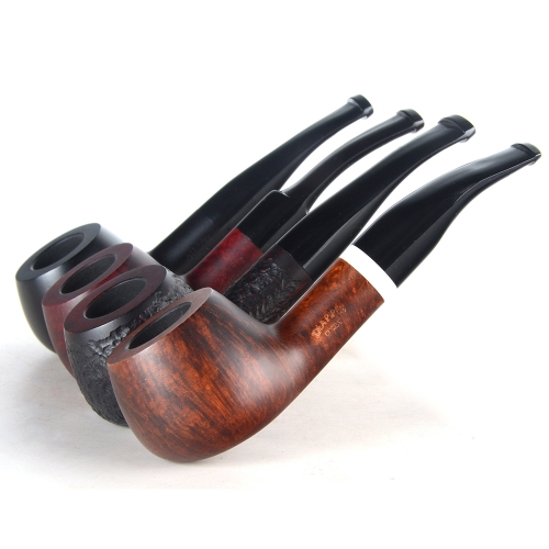 Briar pipes tobacco smoking pipe smooth finish 9mm filter shape half bent pipe diplomat shape #CK1015