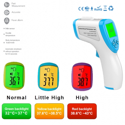 Non-Contact Thermometer Infrared Thermometer Digital 3 Color Back Light Infrared Human Forehead Thermometer