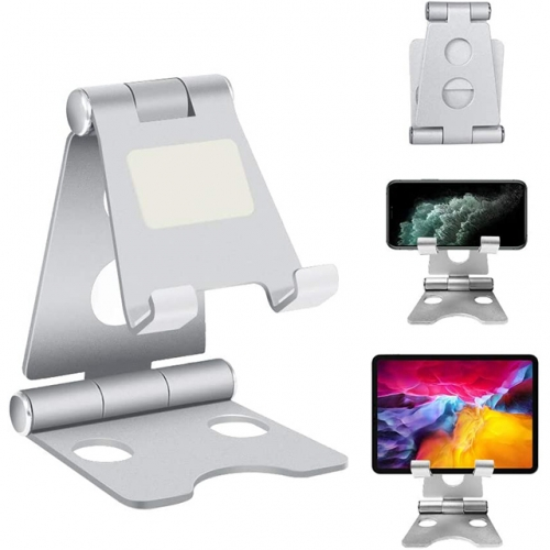 Cell Phone Stand, Foldable Portable Desktop Stand Adjustable Height and Angle Phone Holder(4-12.9 inches) Supported models