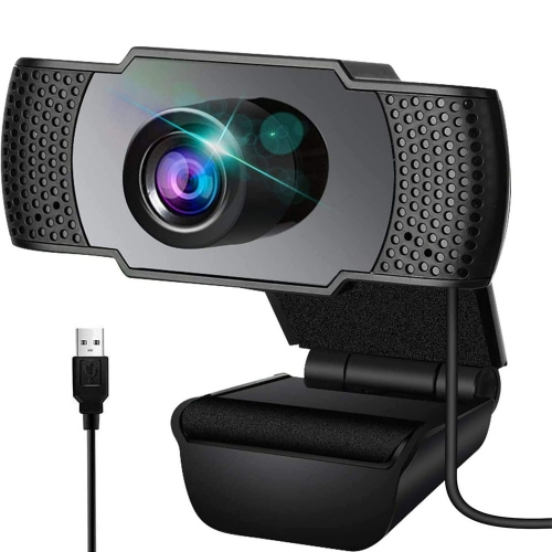 1080P Webcam with Microphone, Wansview USB 2.0 Desktop Laptop Computer Web Camera with Auto Light Correction, Plug and Play, for Video Streaming, Conf