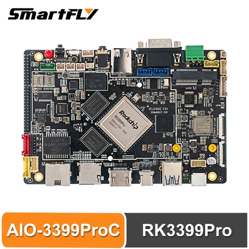 Firefly AIO-3399ProC RK3399Pro Single Board Computer for Aiot Cortex-A72 Cortex-A53 LPDDR3 Linux+QT/Android/Ubuntu sbc