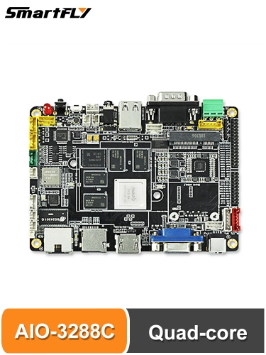 firefly AIO-3288C with RK3288 quad-core Cortex-A17 processor, frequency up to 1.8GHz, integrated quad-core Mali-T764 GPU Single Board Computer