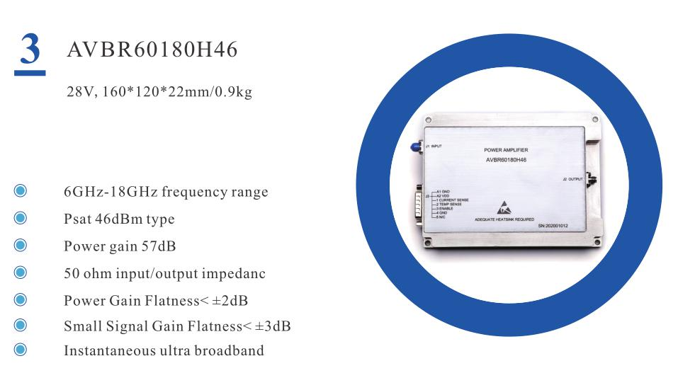 BROADBAND HIGH POWER AMPLIFIER CONSISTENTLY DELIVERS 46 DBM FROM 6 TO 18GHZ