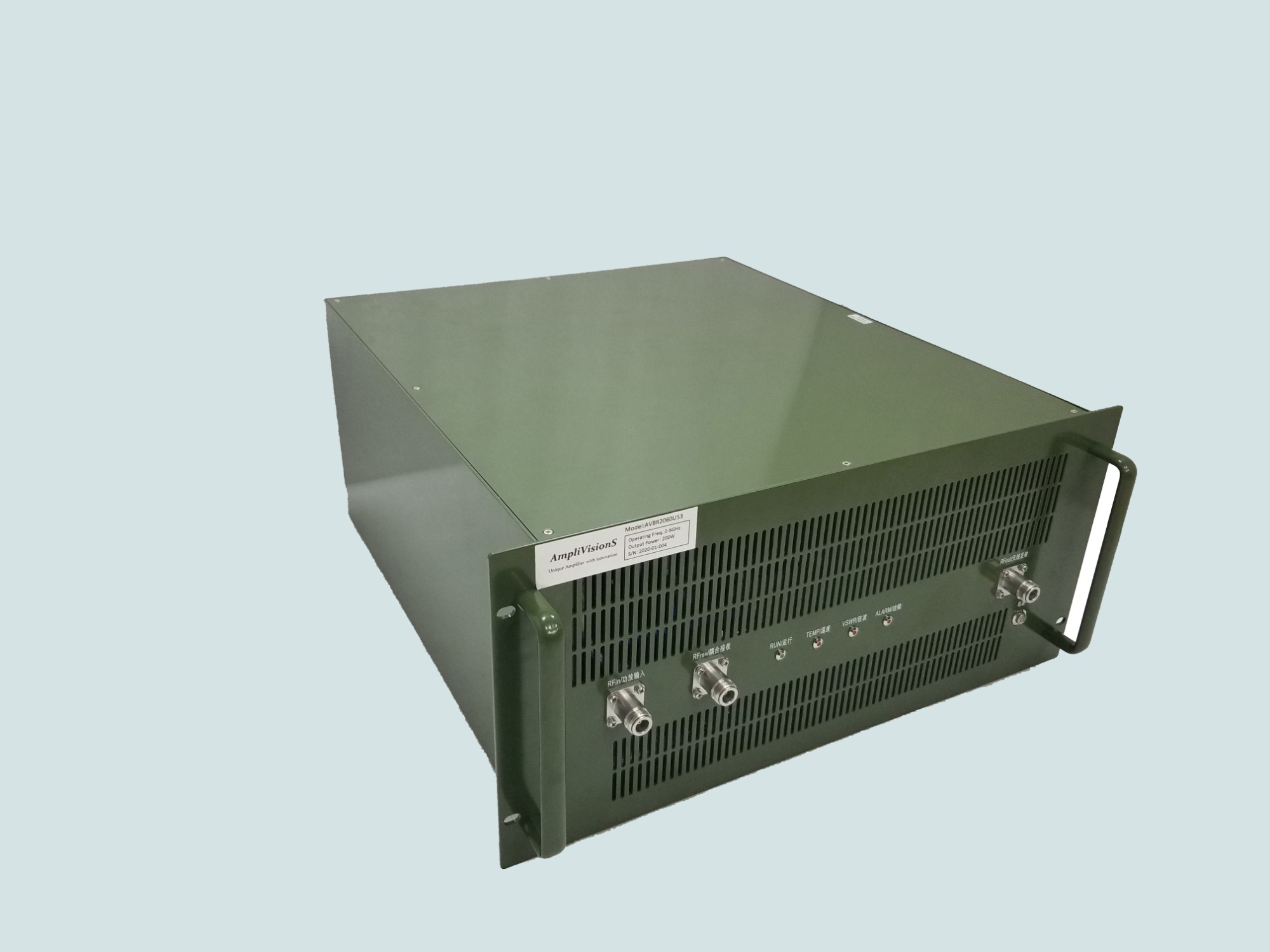 AmpliVisionS successfully delivered 10 sets of Rack-mount Power amplifier Subsystem- -AVBR2060U53 to customer.