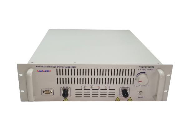 NEW AMPLIVISIONS 0.9-6 GHZ, P1dB 20W GAN POWER AMPLIFIER SUBSYSTEM