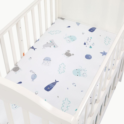 100% woven cotton baby crib sheet