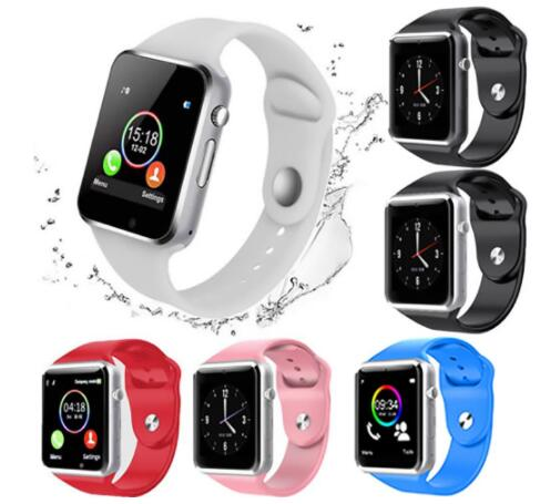 High Quality A1 Smartwatch  Smart watches Support SIM TF Card Smart Wrist Watches Silicone Strap Smartphone with Package