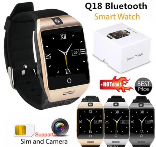 For Iphone 7 8 X  Smart Watch Q18 Mini Camera For Android iPhone  Smart Phones GSM SIM Card Touch Screen