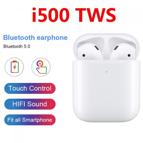i500 TWS  Earphone Wireless Charging Headset i500tws Touch Control Earbuds tws i500 Open Lid Pop Up Real Capacity
