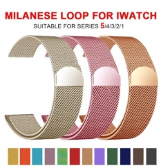Milanese Loop Bracelet Stainless Steel band For Apple Watch series 12 3 42mm 38mm Bracelet strap for iwatch series 4 5 40mm 44mm