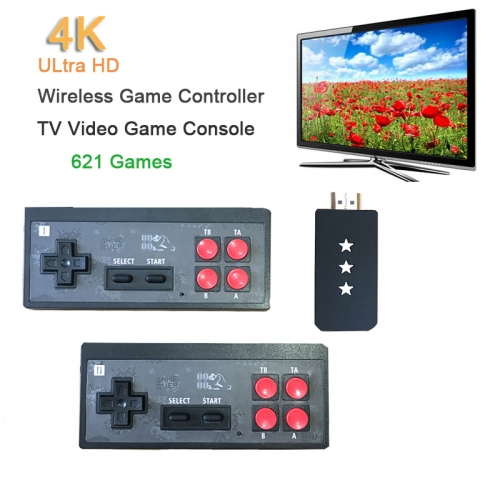 New USB Wireless Handheld TV Video Game Console Built-in 621 Classic Games 8 Bit Mini Video Console HDMI Output Christmas Gifts