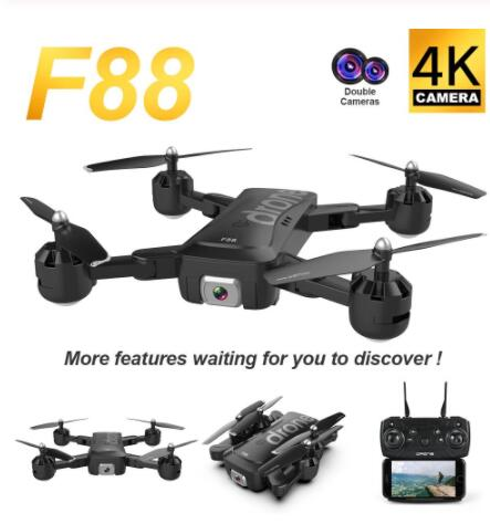 F88 Foldable Mini Drone With RC Quadrocopter 4K Camera RC Helicopter Toy 18 Minutes Flight Time