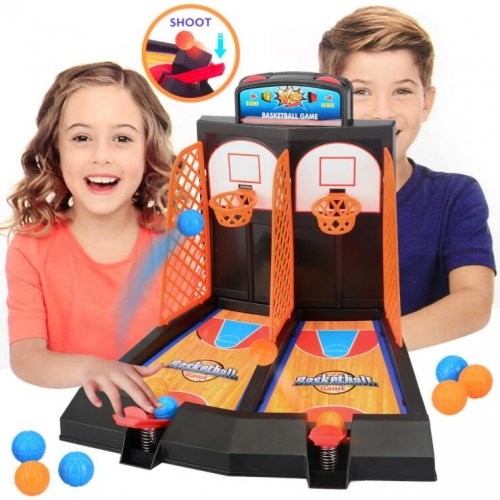 Children's toy double finger ejection basketball court board game parent-child interactive boy desktop educational toy