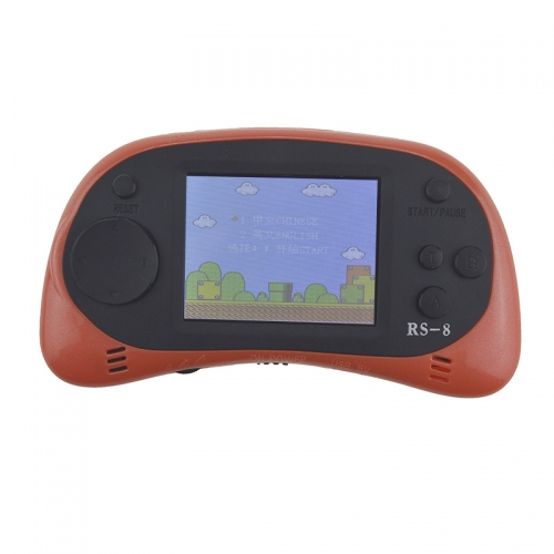 RS-8A Video Game Console 8 Bit 2.5 inch Handheld Game Player Tetris Built-in 260 Different Games Children's Game Color